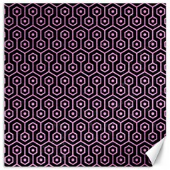Hexagon1 Black Marble & Pink Colored Pencil (r) Canvas 20  X 20   by trendistuff