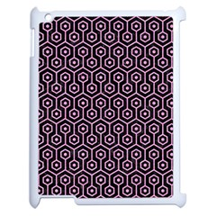 Hexagon1 Black Marble & Pink Colored Pencil (r) Apple Ipad 2 Case (white) by trendistuff