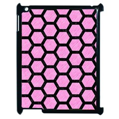 Hexagon2 Black Marble & Pink Colored Pencil Apple Ipad 2 Case (black) by trendistuff