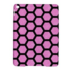 Hexagon2 Black Marble & Pink Colored Pencil Ipad Air 2 Hardshell Cases by trendistuff