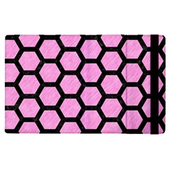 Hexagon2 Black Marble & Pink Colored Pencil Apple Ipad Pro 9 7   Flip Case by trendistuff