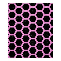 Hexagon2 Black Marble & Pink Colored Pencil (r) Shower Curtain 60  X 72  (medium)  by trendistuff