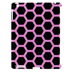 Hexagon2 Black Marble & Pink Colored Pencil (r) Apple Ipad 3/4 Hardshell Case (compatible With Smart Cover) by trendistuff