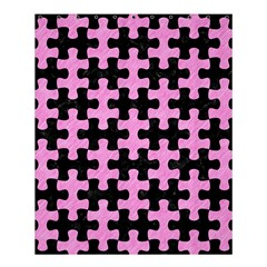 Puzzle1 Black Marble & Pink Colored Pencil Shower Curtain 60  X 72  (medium)  by trendistuff