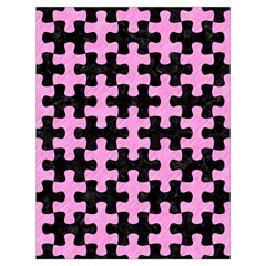 Puzzle1 Black Marble & Pink Colored Pencil Drawstring Bag (large) by trendistuff