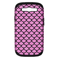 Scales1 Black Marble & Pink Colored Pencil Samsung Galaxy S Iii Hardshell Case (pc+silicone) by trendistuff