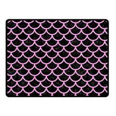 Scales1 Black Marble & Pink Colored Pencil (r) Fleece Blanket (small) by trendistuff