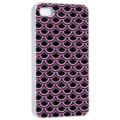 Scales2 Black Marble & Pink Colored Pencil (r) Apple Iphone 4/4s Seamless Case (white) by trendistuff