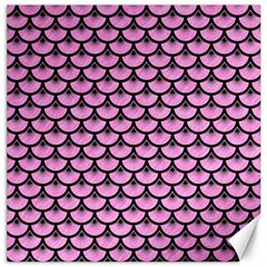 Scales3 Black Marble & Pink Colored Pencil Canvas 20  X 20   by trendistuff