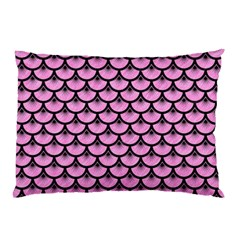 Scales3 Black Marble & Pink Colored Pencil Pillow Case by trendistuff