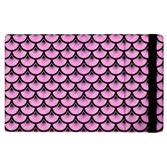 Scales3 Black Marble & Pink Colored Pencil Apple Ipad 2 Flip Case by trendistuff