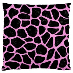 Skin1 Black Marble & Pink Colored Pencil Standard Flano Cushion Case (one Side) by trendistuff