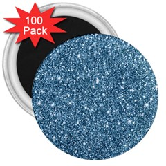 New Sparkling Glitter Print F 3  Magnets (100 Pack) by MoreColorsinLife
