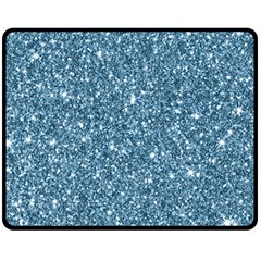 New Sparkling Glitter Print F Fleece Blanket (medium)  by MoreColorsinLife