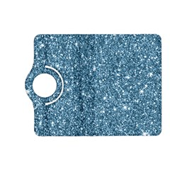 New Sparkling Glitter Print F Kindle Fire Hd (2013) Flip 360 Case by MoreColorsinLife