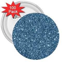 New Sparkling Glitter Print F 3  Buttons (100 Pack)  by MoreColorsinLife