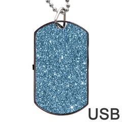 New Sparkling Glitter Print F Dog Tag Usb Flash (one Side) by MoreColorsinLife