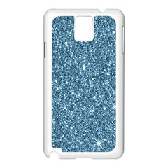 New Sparkling Glitter Print F Samsung Galaxy Note 3 N9005 Case (white) by MoreColorsinLife