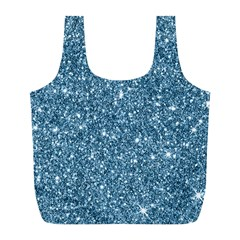 New Sparkling Glitter Print F Full Print Recycle Bags (l)  by MoreColorsinLife
