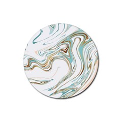 Abstract Marble 1 Rubber Coaster (round)  by tarastyle
