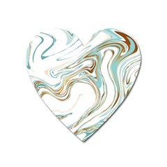 Abstract Marble 1 Heart Magnet by tarastyle