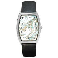 Abstract Marble 1 Barrel Style Metal Watch by tarastyle