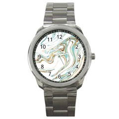 Abstract Marble 1 Sport Metal Watch by tarastyle