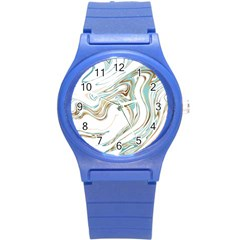 Abstract Marble 1 Round Plastic Sport Watch (s) by tarastyle