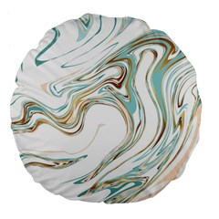 Abstract Marble 1 Large 18  Premium Flano Round Cushions by tarastyle