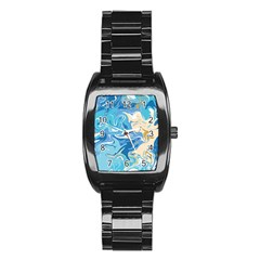 Abstract Marble 2 Stainless Steel Barrel Watch by tarastyle