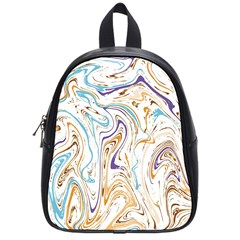 Abstract Marble 3 School Bag (small) by tarastyle