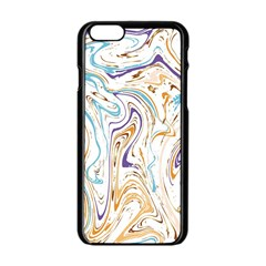 Abstract Marble 3 Apple Iphone 6/6s Black Enamel Case by tarastyle