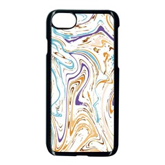 Abstract Marble 3 Apple Iphone 7 Seamless Case (black) by tarastyle