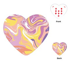 Abstract Marble 5 Playing Cards (heart)  by tarastyle