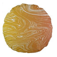 Abstract Marble 6 Large 18  Premium Round Cushions by tarastyle