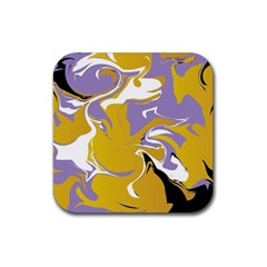 Abstract Marble 7 Rubber Square Coaster (4 Pack)  by tarastyle