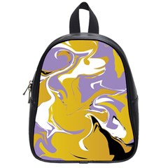 Abstract Marble 7 School Bag (small) by tarastyle