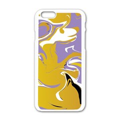 Abstract Marble 7 Apple Iphone 6/6s White Enamel Case by tarastyle