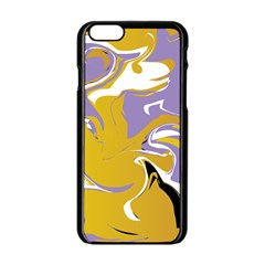Abstract Marble 7 Apple Iphone 6/6s Black Enamel Case by tarastyle
