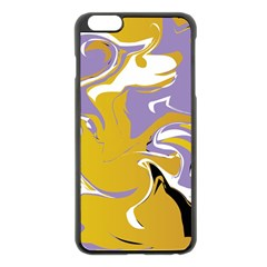 Abstract Marble 7 Apple Iphone 6 Plus/6s Plus Black Enamel Case by tarastyle