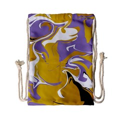 Abstract Marble 7 Drawstring Bag (small) by tarastyle