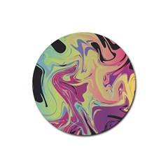 Abstract Marble 8 Rubber Coaster (round)  by tarastyle