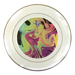 Abstract Marble 8 Porcelain Plates by tarastyle
