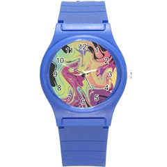 Abstract Marble 8 Round Plastic Sport Watch (s) by tarastyle