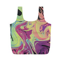 Abstract Marble 8 Full Print Recycle Bags (m)  by tarastyle