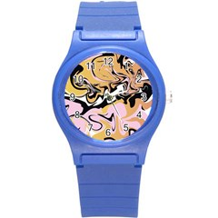 Abstract Marble 9 Round Plastic Sport Watch (s) by tarastyle
