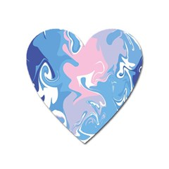 Abstract Marble 10 Heart Magnet by tarastyle