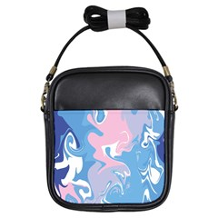 Abstract Marble 10 Girls Sling Bags by tarastyle