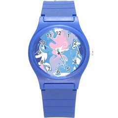 Abstract Marble 10 Round Plastic Sport Watch (s) by tarastyle