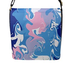 Abstract Marble 10 Flap Messenger Bag (l)  by tarastyle